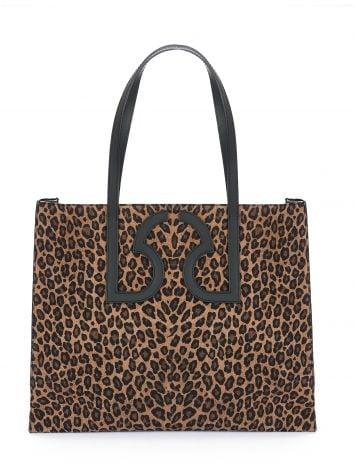 Leopard-print leather tote Leopard-print leather tote Rinascimento