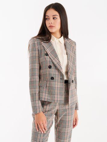 Chequered print jacket  Chequered print jacket  Rinascimento