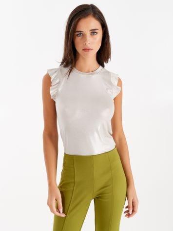 Laminated fabric top, beige Laminated fabric top, beige Rinascimento