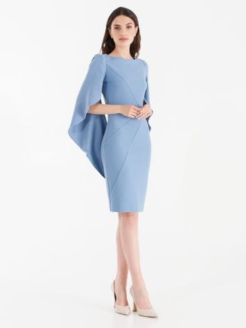 Sheath dress with wide joined sleeves. Sheath dress with wide joined sleeves. Rinascimento