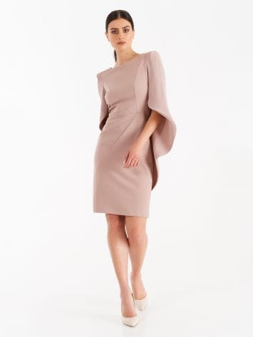 Dusty pink sheath dress with wide joined sleeves Dusty pink sheath dress with wide joined sleeves Rinascimento