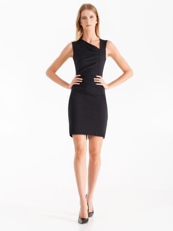 Sheath dress in Milano stitch, black Sheath dress in Milano stitch, black Rinascimento