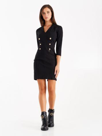 Milano stitch sheath dress with sailor style buttons Milano stitch sheath dress with sailor style buttons Rinascimento