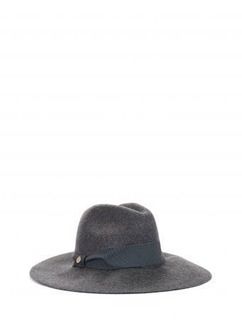 Wide brim hat, grey