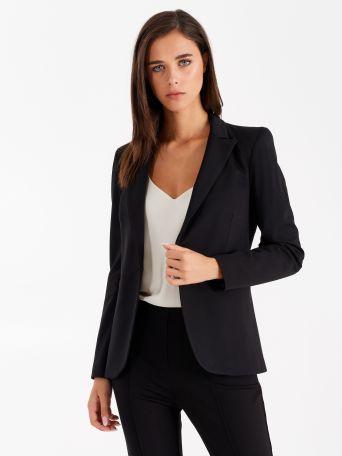 Jacket in Milano stitch, black