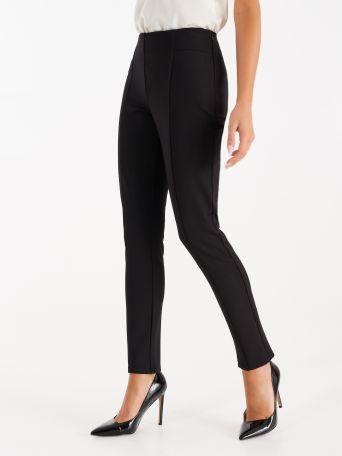 Pantalón de punto milano color negro