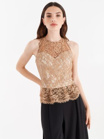 Bronze lace top