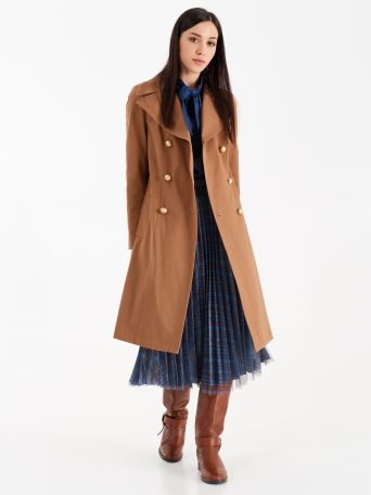 Structured cotton trench coat