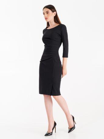 Vestido de punto milano color negro