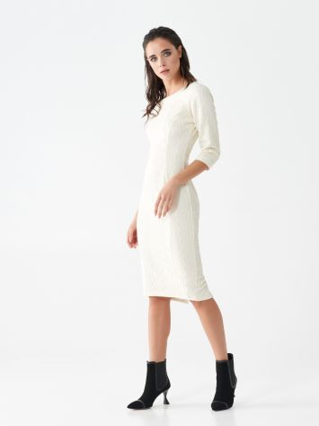Monogram sheath dress in jacquard Monogram sheath dress in jacquard Rinascimento