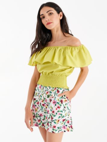 Top Off-the-Shoulders aus Baumwolle Top Off-the-Shoulders aus Baumwolle Rinascimento