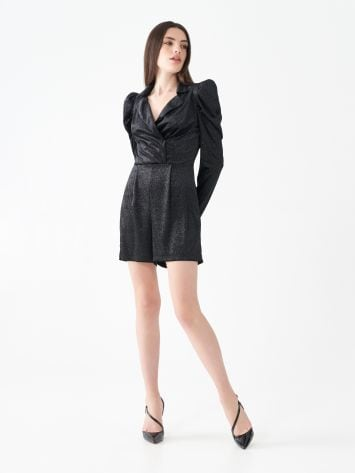 Short one-piece rhinestone suit Short one-piece rhinestone suit Rinascimento