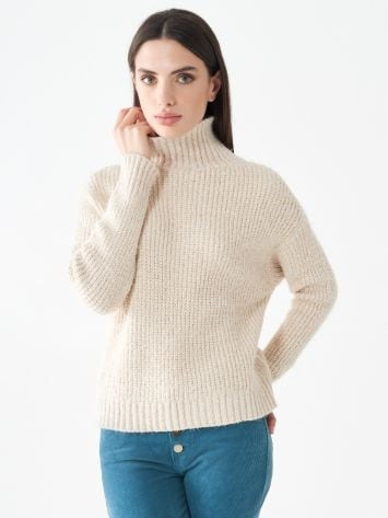 Chenille turtleneck jumper Chenille turtleneck jumper Rinascimento
