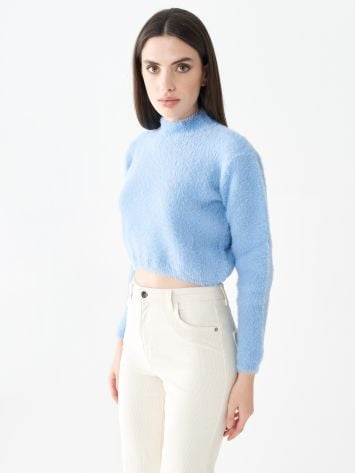 Cropped turtleneck top Cropped turtleneck top Rinascimento
