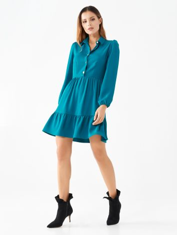 Long-sleeve frilled dress Long-sleeve frilled dress Rinascimento