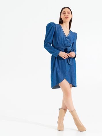 Crossed Denim Dress Crossed Denim Dress Rinascimento