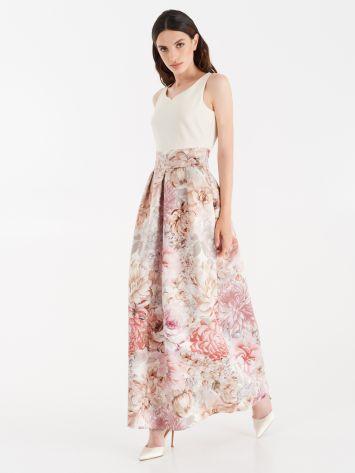 Vestido con falda de satén duquesa Vestido con falda de satén duquesa Rinascimento