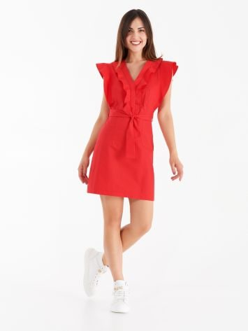 Poplin dress with cap sleeves Poplin dress with cap sleeves Rinascimento