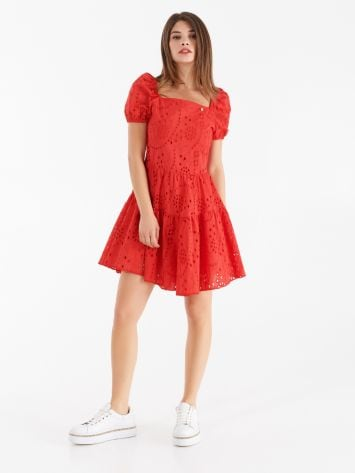 Dress in coloured Sangallo lace Dress in coloured Sangallo lace Rinascimento