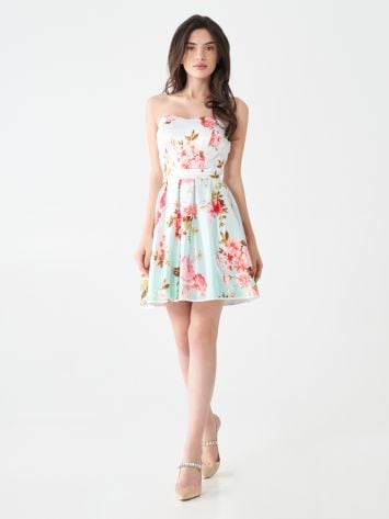 Floral satin dress Floral satin dress Rinascimento