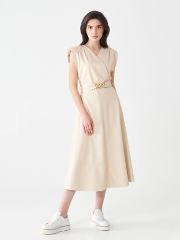 Faux leather crossover dress Faux leather crossover dress Rinascimento