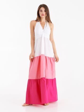 Vestido largo color block Vestido largo color block Rinascimento