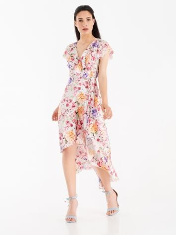 Wrap dress with cap sleeves Wrap dress with cap sleeves Rinascimento