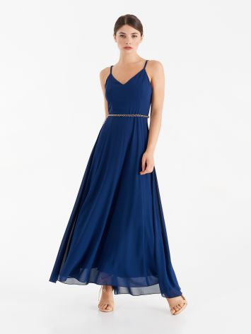 Full-length dress with thin straps Full-length dress with thin straps Rinascimento