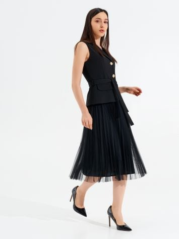 Plissé and Tulle dress Plissé and Tulle dress Rinascimento