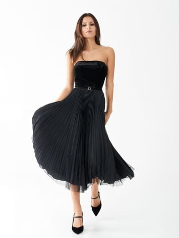 Velvet pleated dress Velvet pleated dress Rinascimento