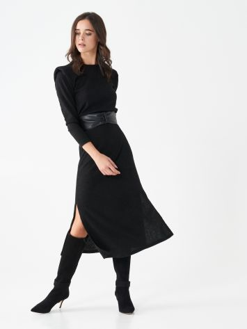 Midi dress with slits Midi dress with slits Rinascimento