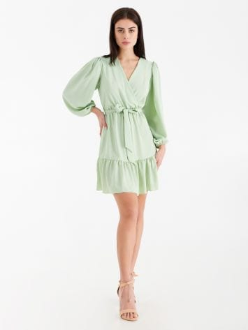 Short crossover dress with ruffles Short crossover dress with ruffles Rinascimento