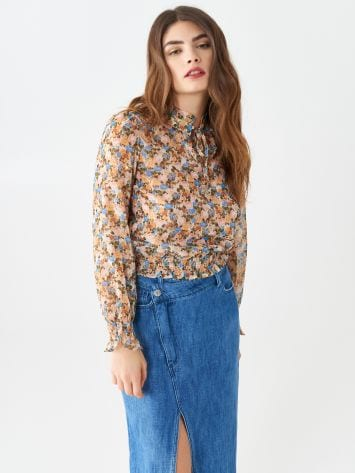 Micro-flowered blouse Micro-flowered blouse Rinascimento