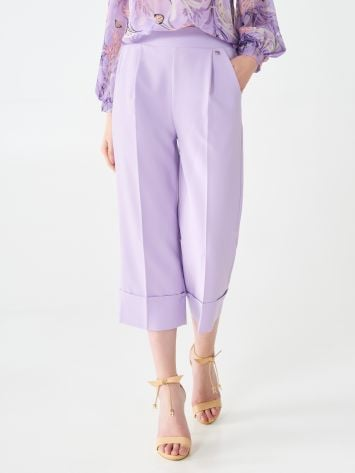 Cropped pleated trousers Cropped pleated trousers Rinascimento