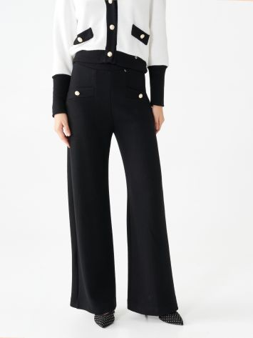Palazzo trousers with buttons Palazzo trousers with buttons Rinascimento
