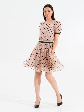 Short Polka dot Tulle Dress Short Polka dot Tulle Dress Rinascimento
