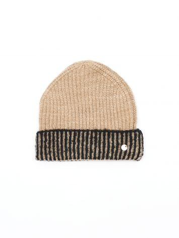 Two-tone knit hat Two-tone knit hat Rinascimento
