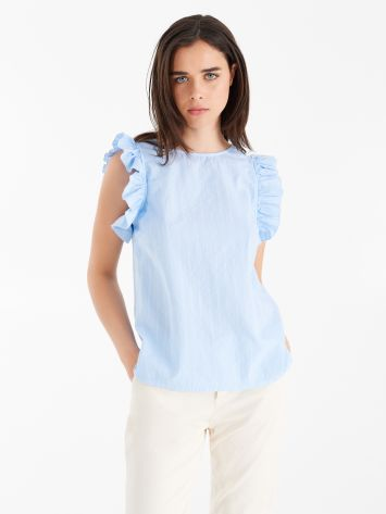 Blusa de algodón texturizado Blusa de algodón texturizado Rinascimento