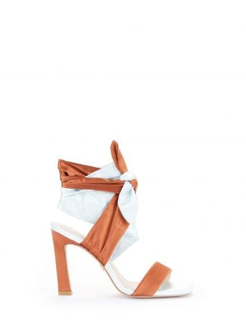 Two-tone ribbon sandals Two-tone ribbon sandals Rinascimento