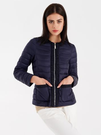 Lurex quilted jacket Lurex quilted jacket Rinascimento