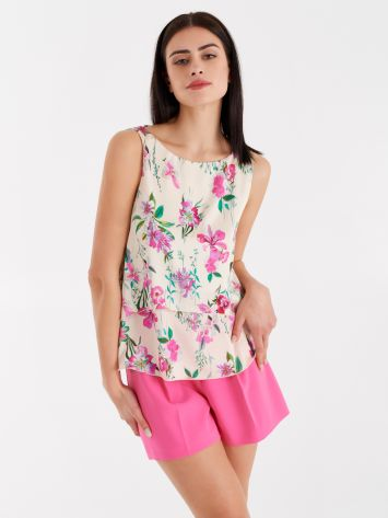 Floral tank top Floral tank top Rinascimento