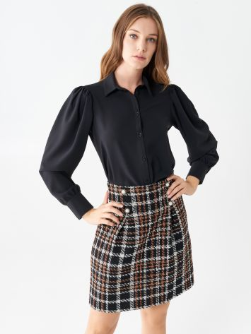 Shirt with long puff sleeves Shirt with long puff sleeves Rinascimento