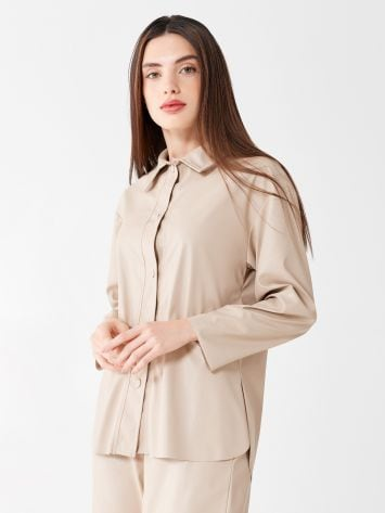 Faux leather shirt Faux leather shirt Rinascimento