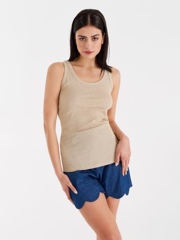 Lurex tank top Lurex tank top Rinascimento