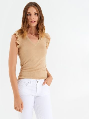 Lurex tank top in viscose Lurex tank top in viscose Rinascimento
