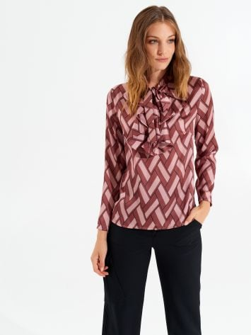 Printed blouse with bow Printed blouse with bow Rinascimento