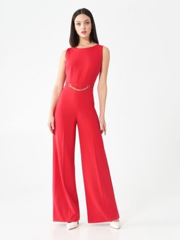 Chain one-piece suit with palazzo trousers Chain one-piece suit with palazzo trousers Rinascimento