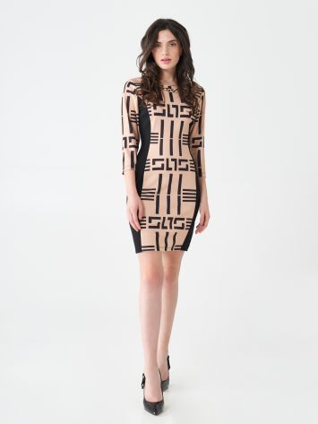 Geometric print sheath dress Geometric print sheath dress Rinascimento