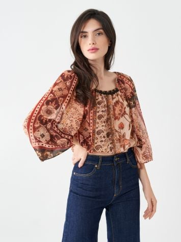 Printed blouse Printed blouse Rinascimento