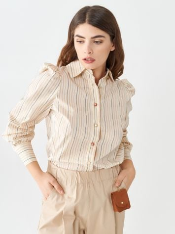 Striped shirt with jewel buttons Striped shirt with jewel buttons Rinascimento